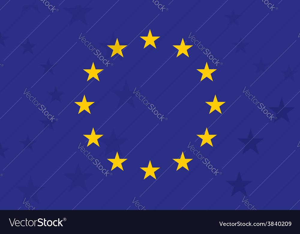 European union flag with additional stars on vector | Price: 1 Credit (USD $1)