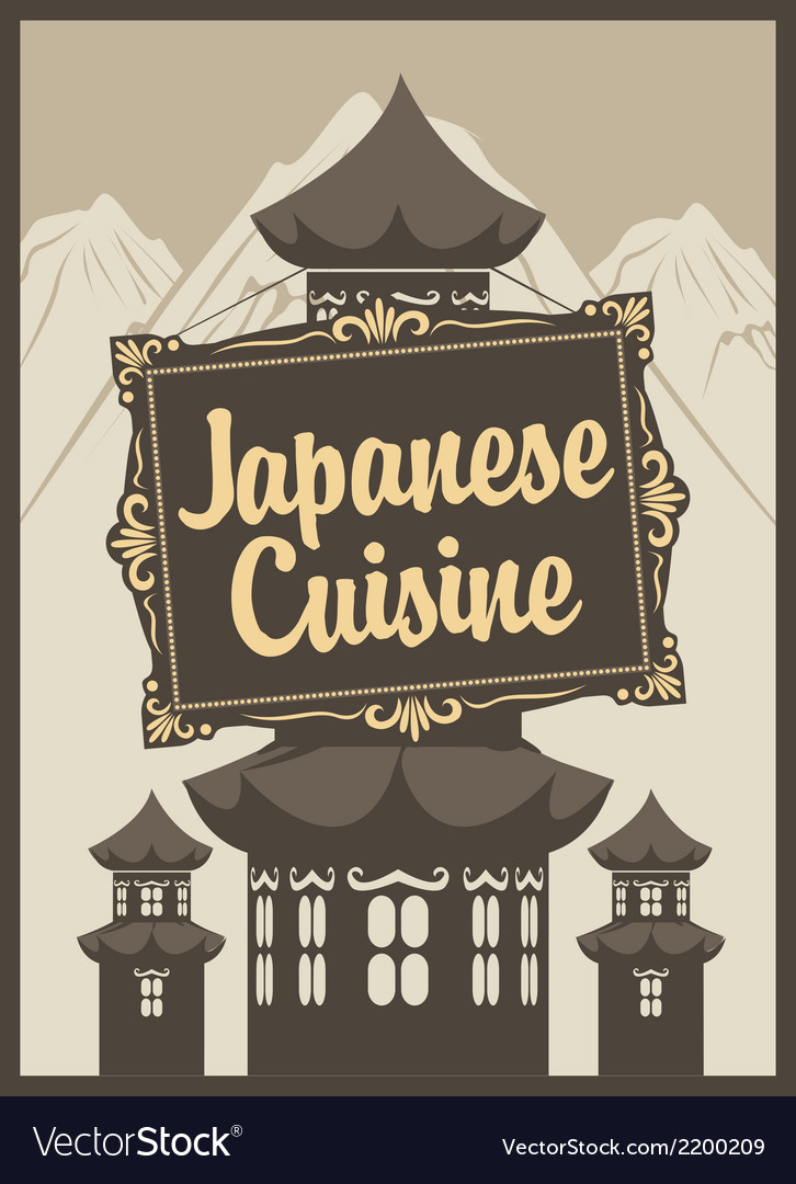 Japanese cuisine vector | Price: 1 Credit (USD $1)