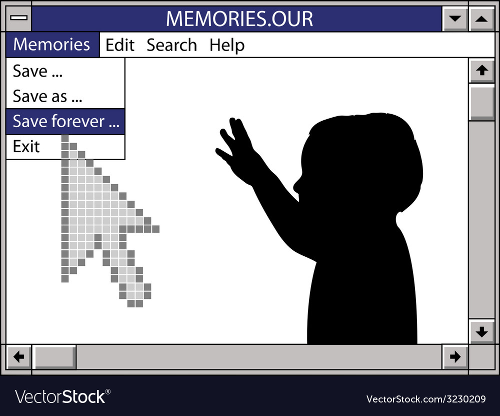 Our memories save forever vector | Price: 1 Credit (USD $1)