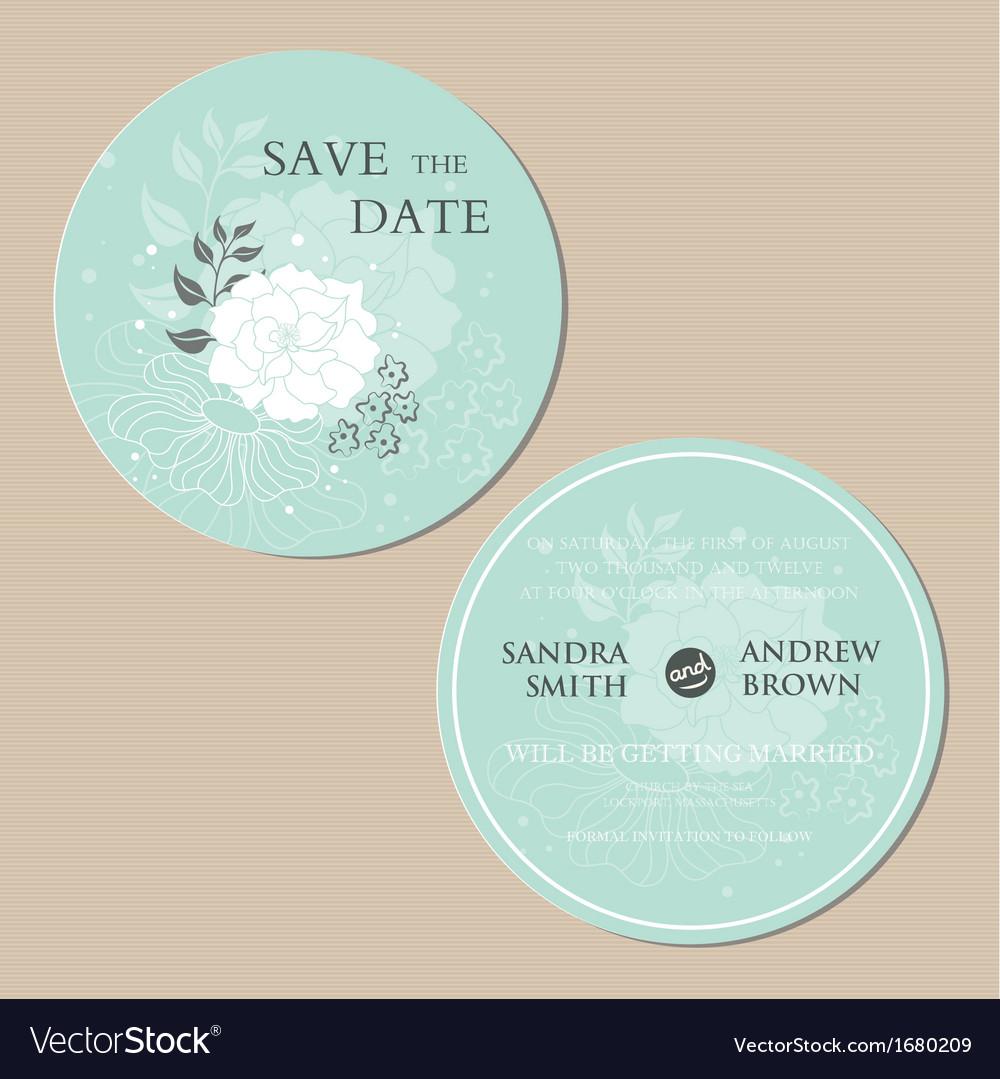 Round invitation vector | Price: 1 Credit (USD $1)