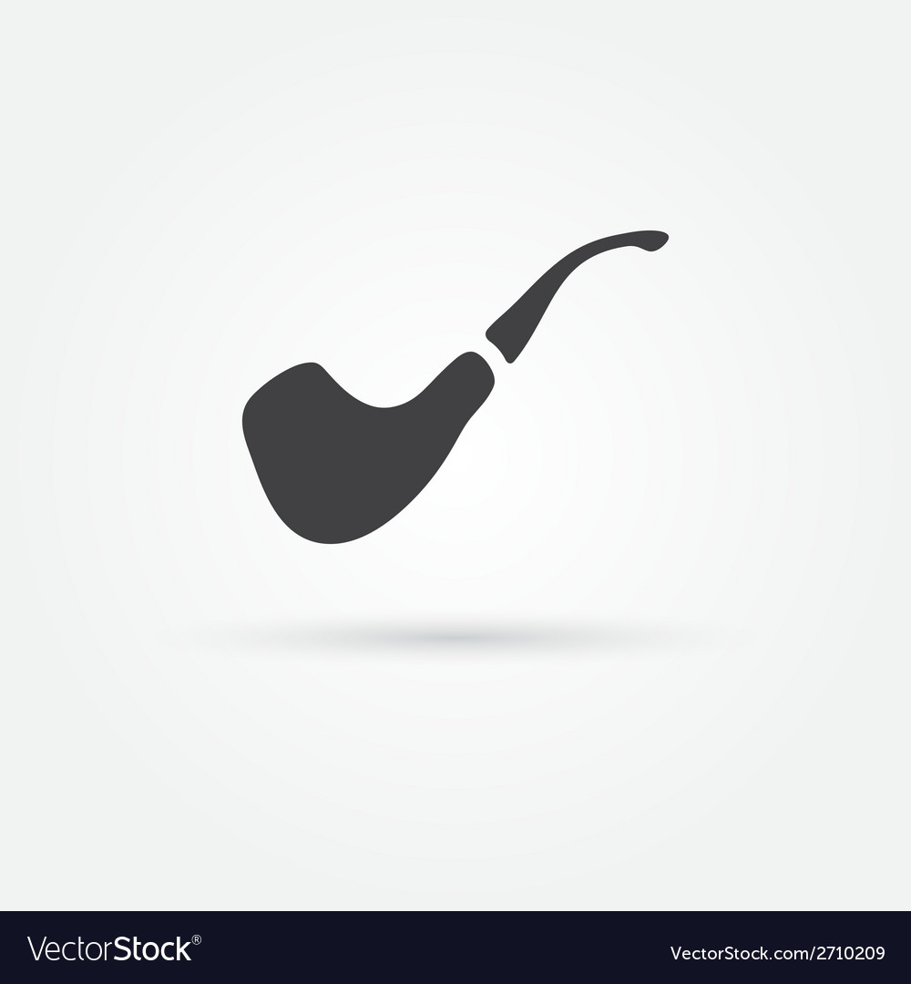 Smoky pipe icon vector | Price: 1 Credit (USD $1)