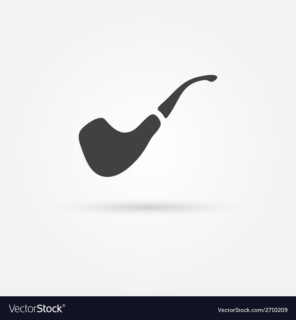 Smoky pipe icon vector | Price: 1 Credit (USD $1)