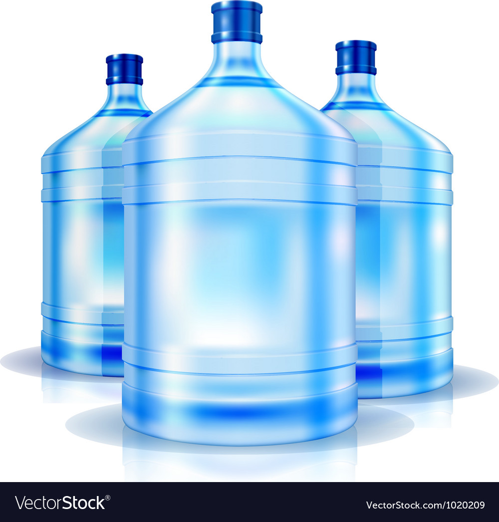 Three big bottles of water for cooler vector | Price: 1 Credit (USD $1)