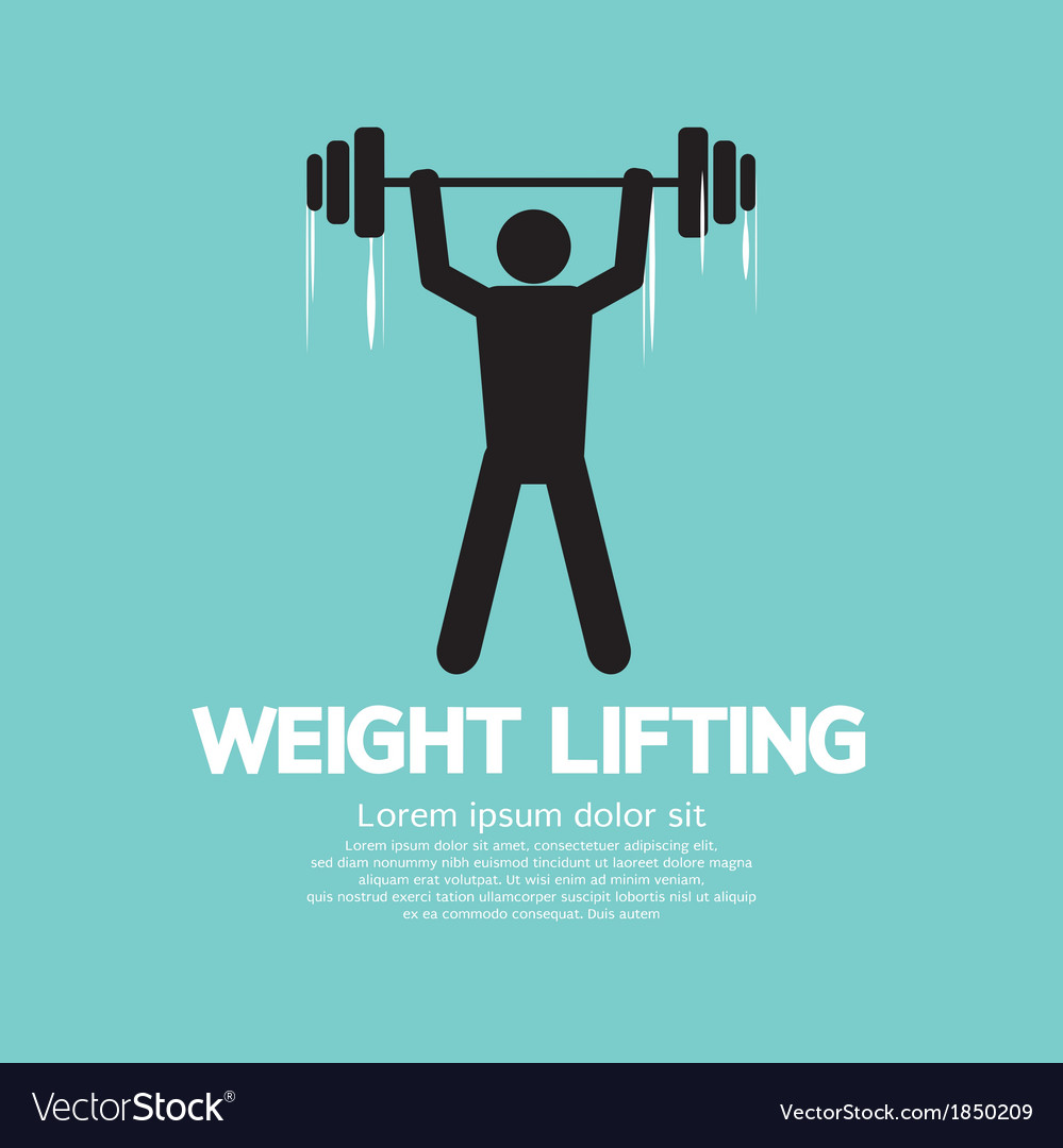 Weight lifter athlete vector | Price: 1 Credit (USD $1)