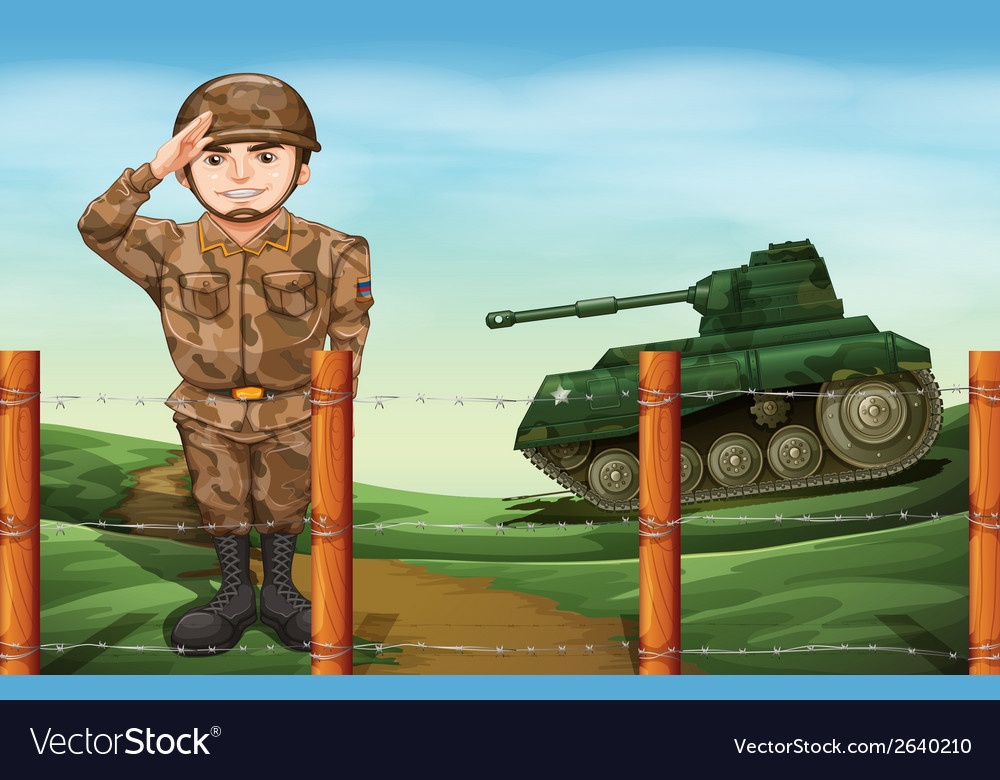 A soldier doing a hand salute vector | Price: 3 Credit (USD $3)