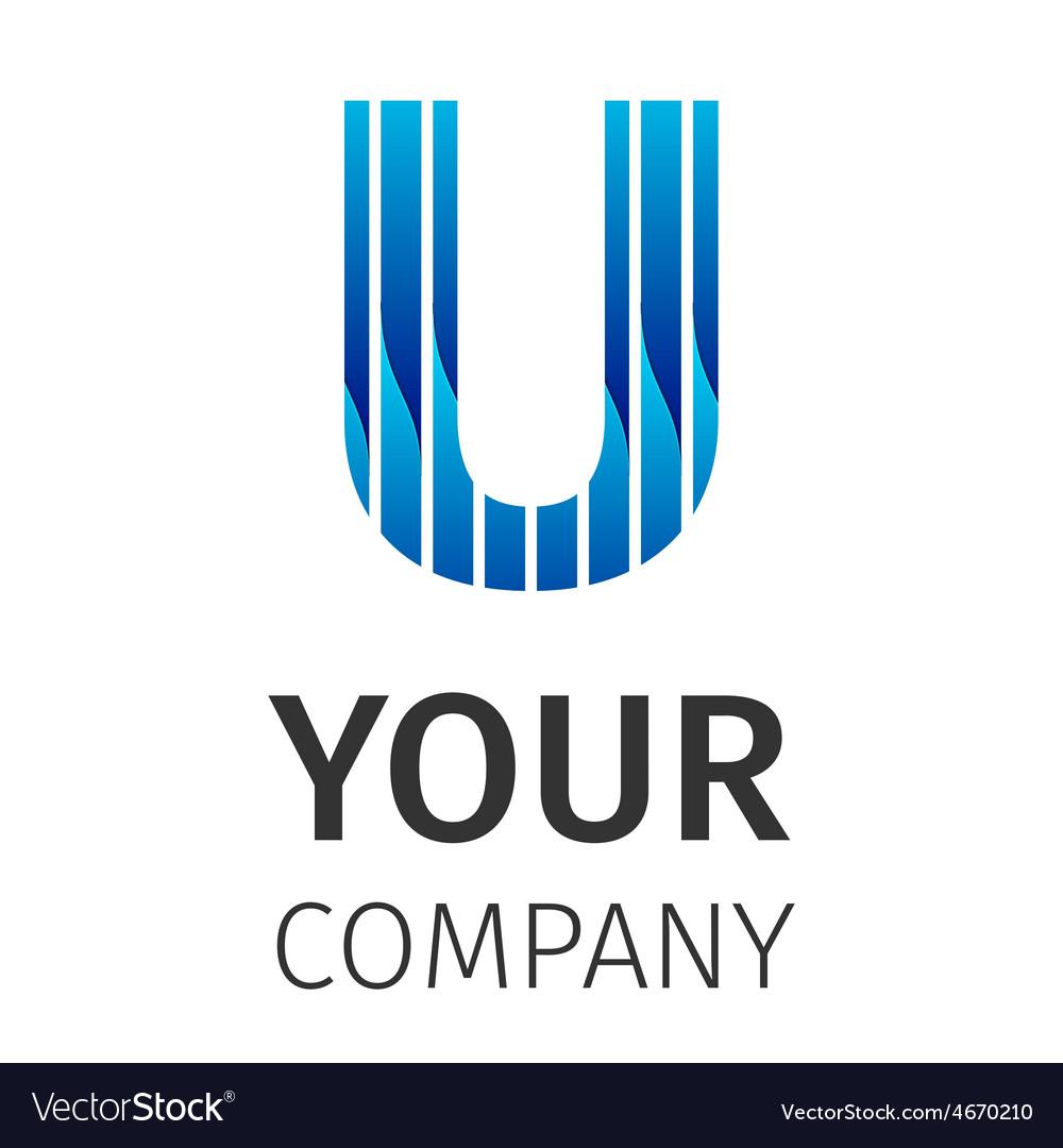 Abstract blue logo u vector | Price: 1 Credit (USD $1)