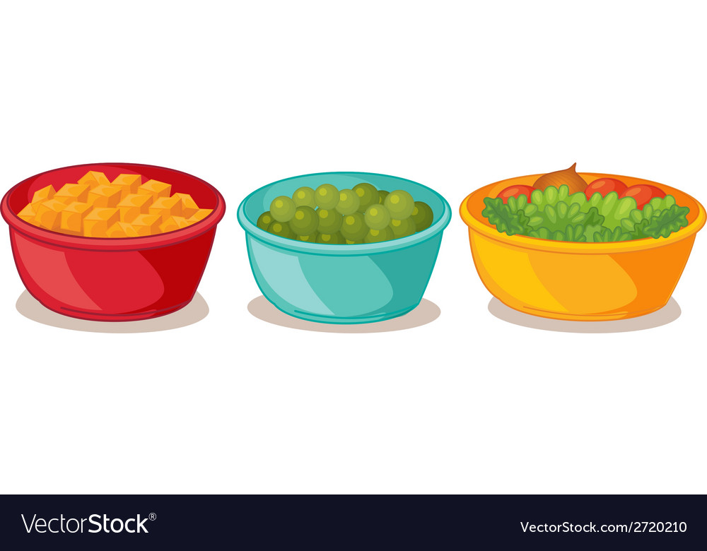 Bowls of food vector | Price: 1 Credit (USD $1)