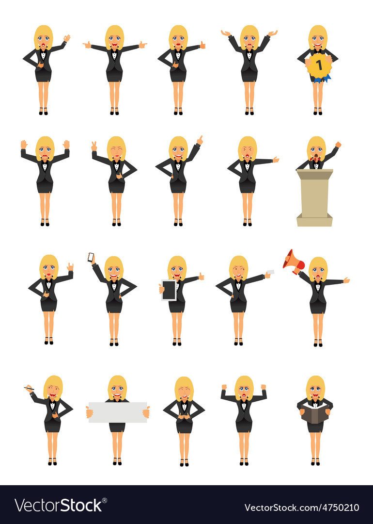 Business woman cartoon character vector | Price: 1 Credit (USD $1)