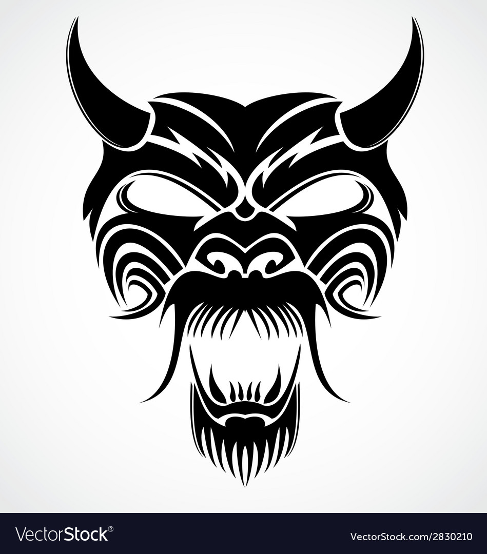Devil mask vector | Price: 1 Credit (USD $1)