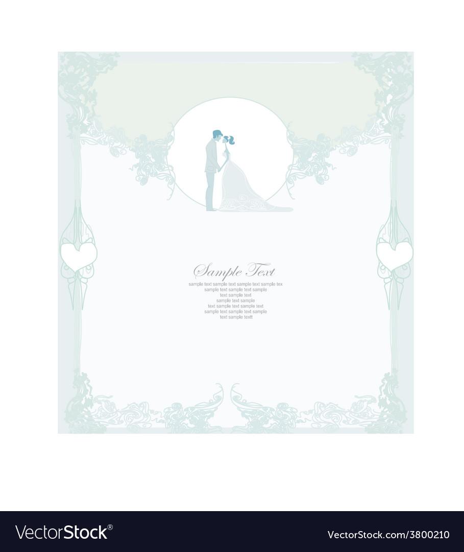 Elegant wedding invitation with wedding couple vector   Price: 1 Credit (USD $1)