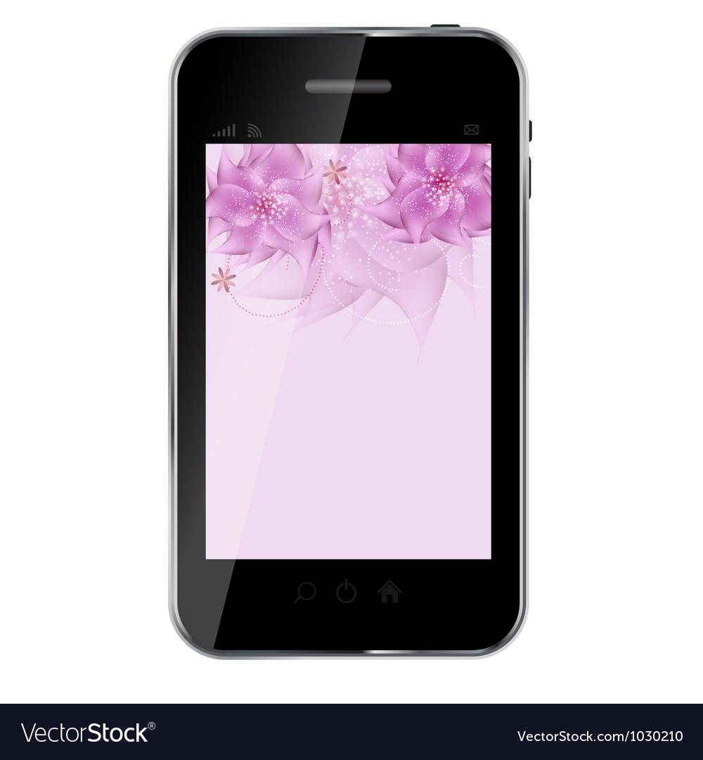 Romantic flower background on abstract design vector | Price: 1 Credit (USD $1)