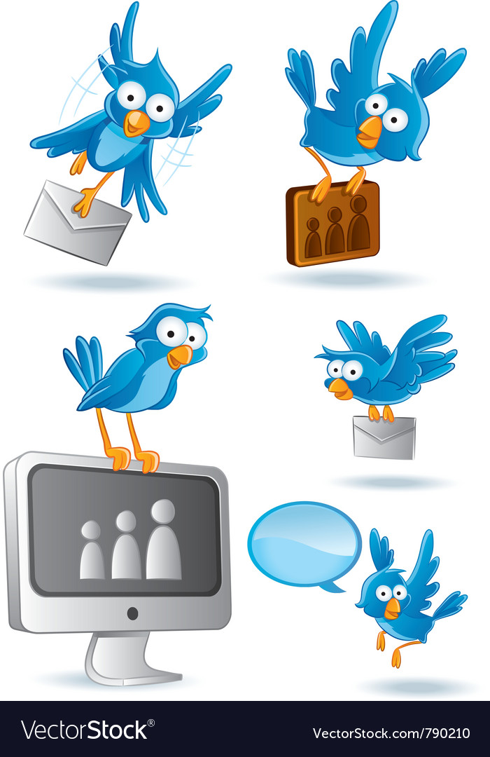 Social media network bluebird vector | Price: 3 Credit (USD $3)