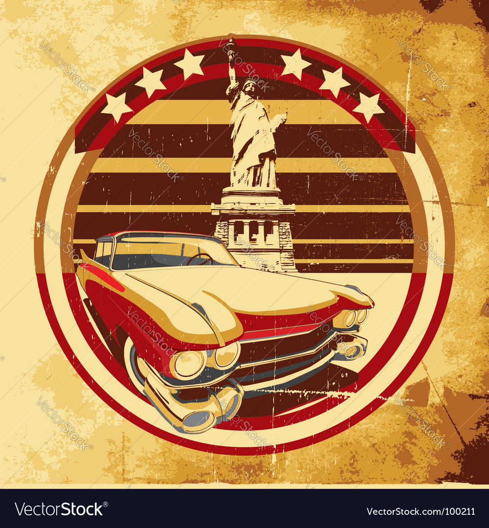American style poster vector | Price: 3 Credit (USD $3)