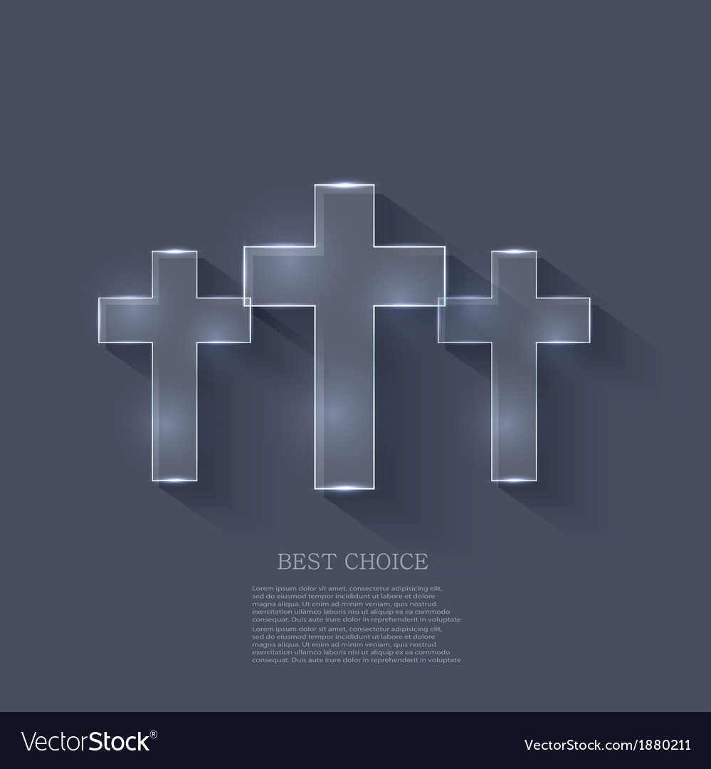 Cross on blue background eps 10 vector | Price: 1 Credit (USD $1)