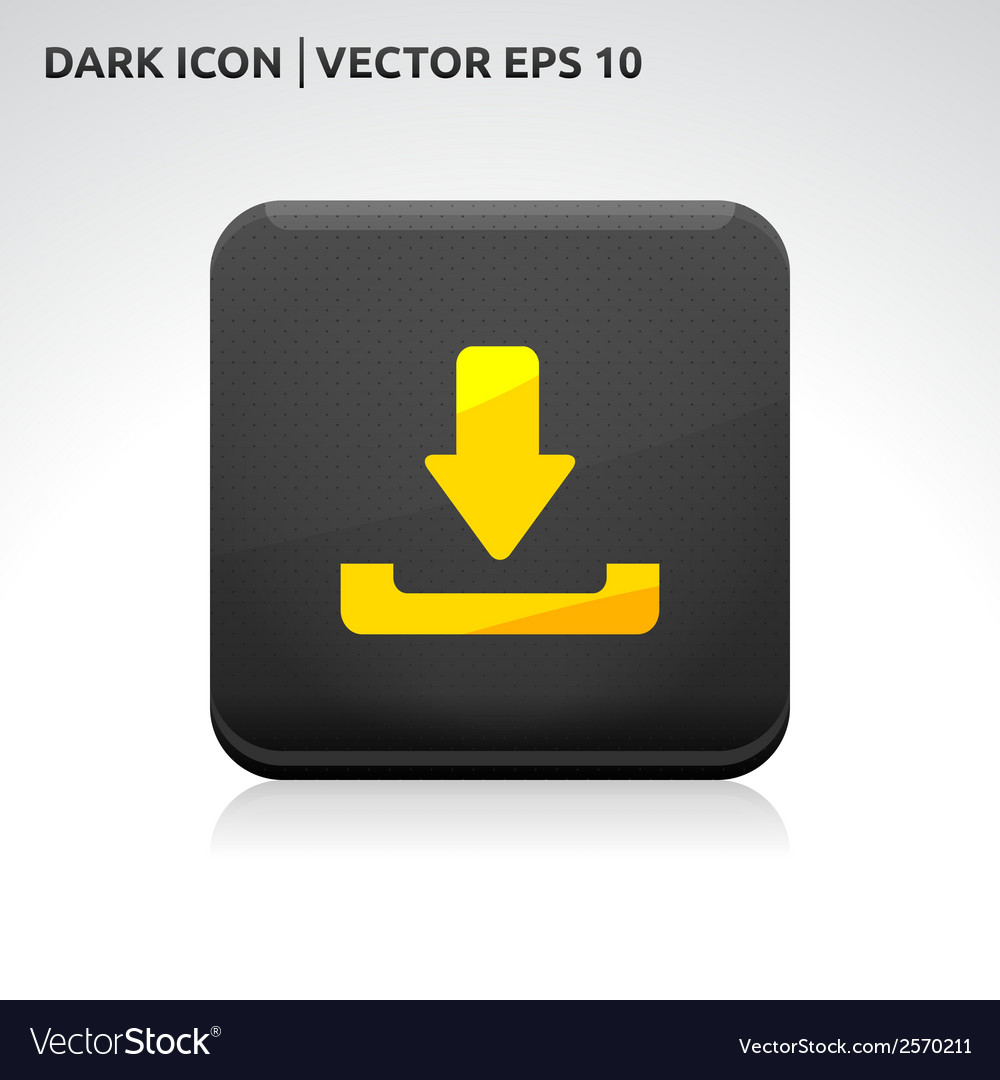 Download icon gold vector | Price: 1 Credit (USD $1)