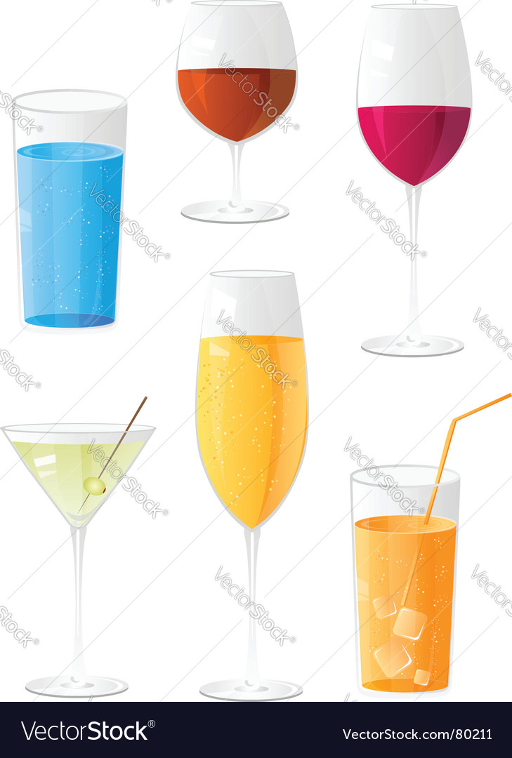 Drinks vector | Price: 3 Credit (USD $3)