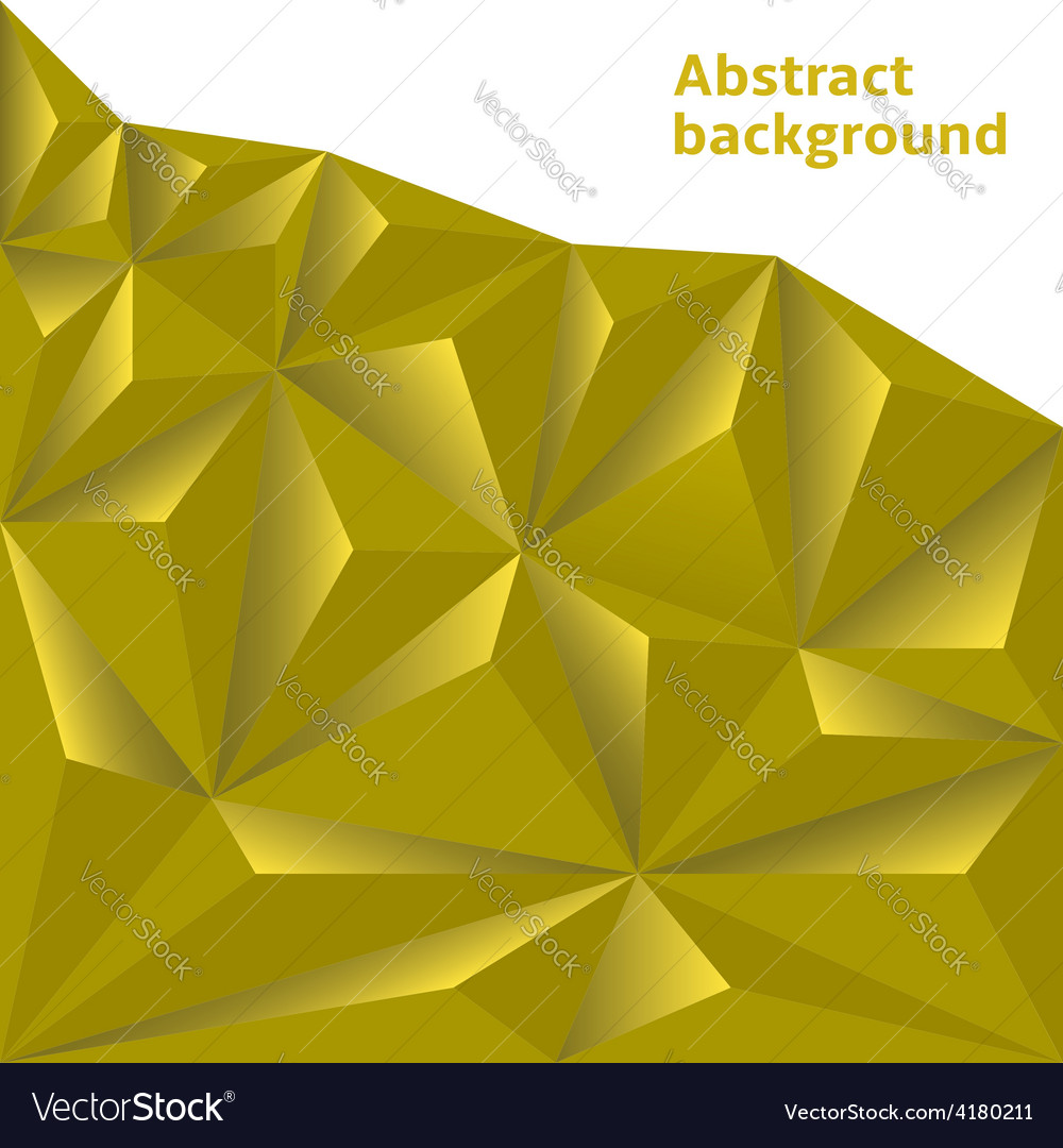 Golden polygonal background vector