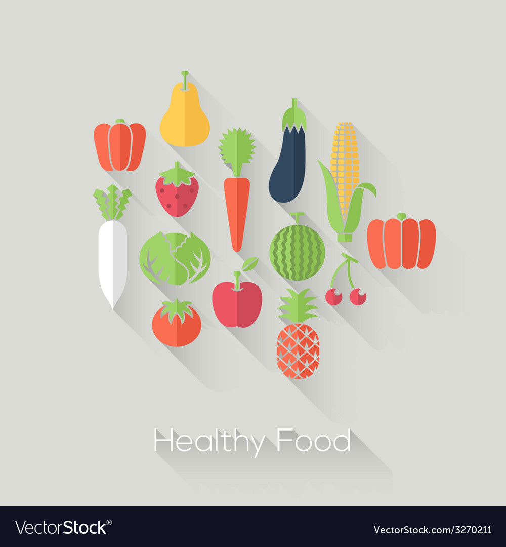 Healthy food and farm fresh concept vector | Price: 1 Credit (USD $1)