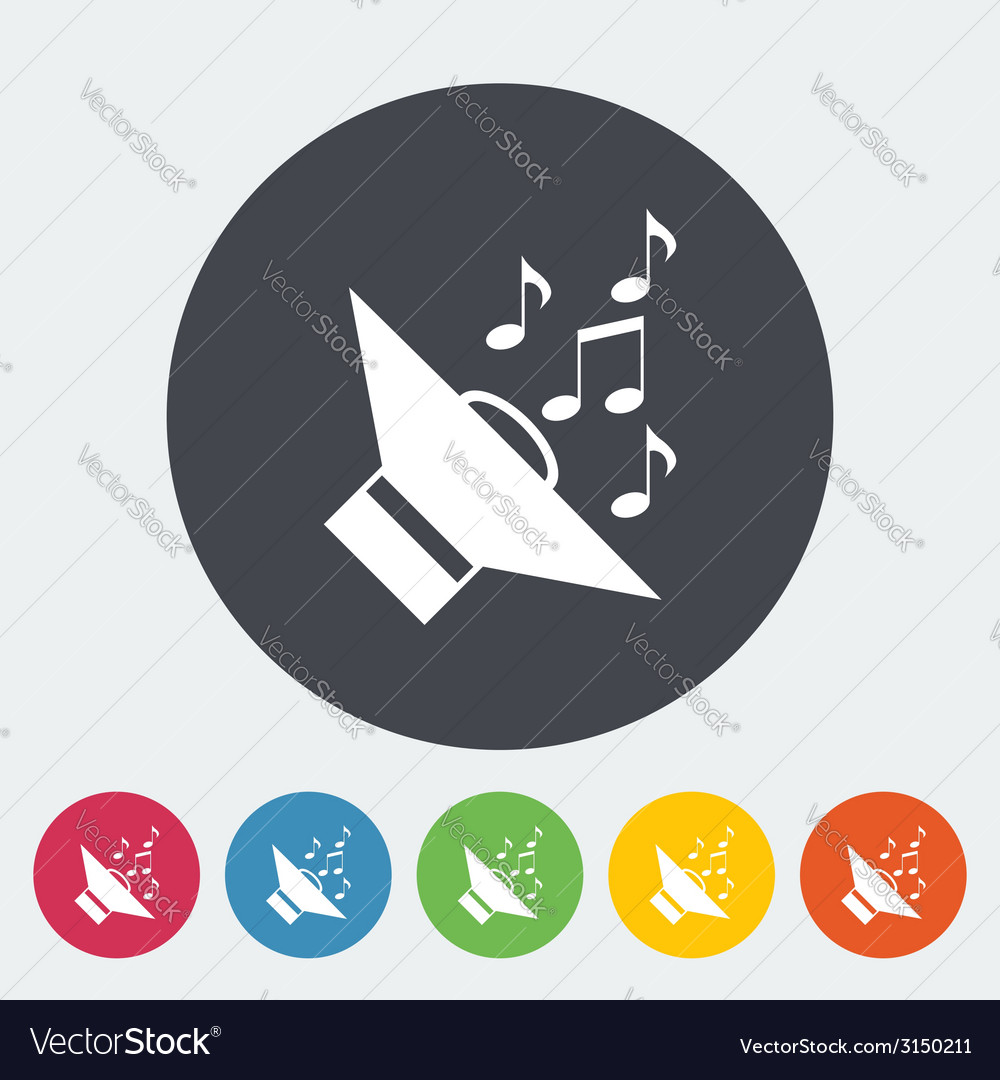 Icon of car speakers vector   Price: 1 Credit (USD $1)