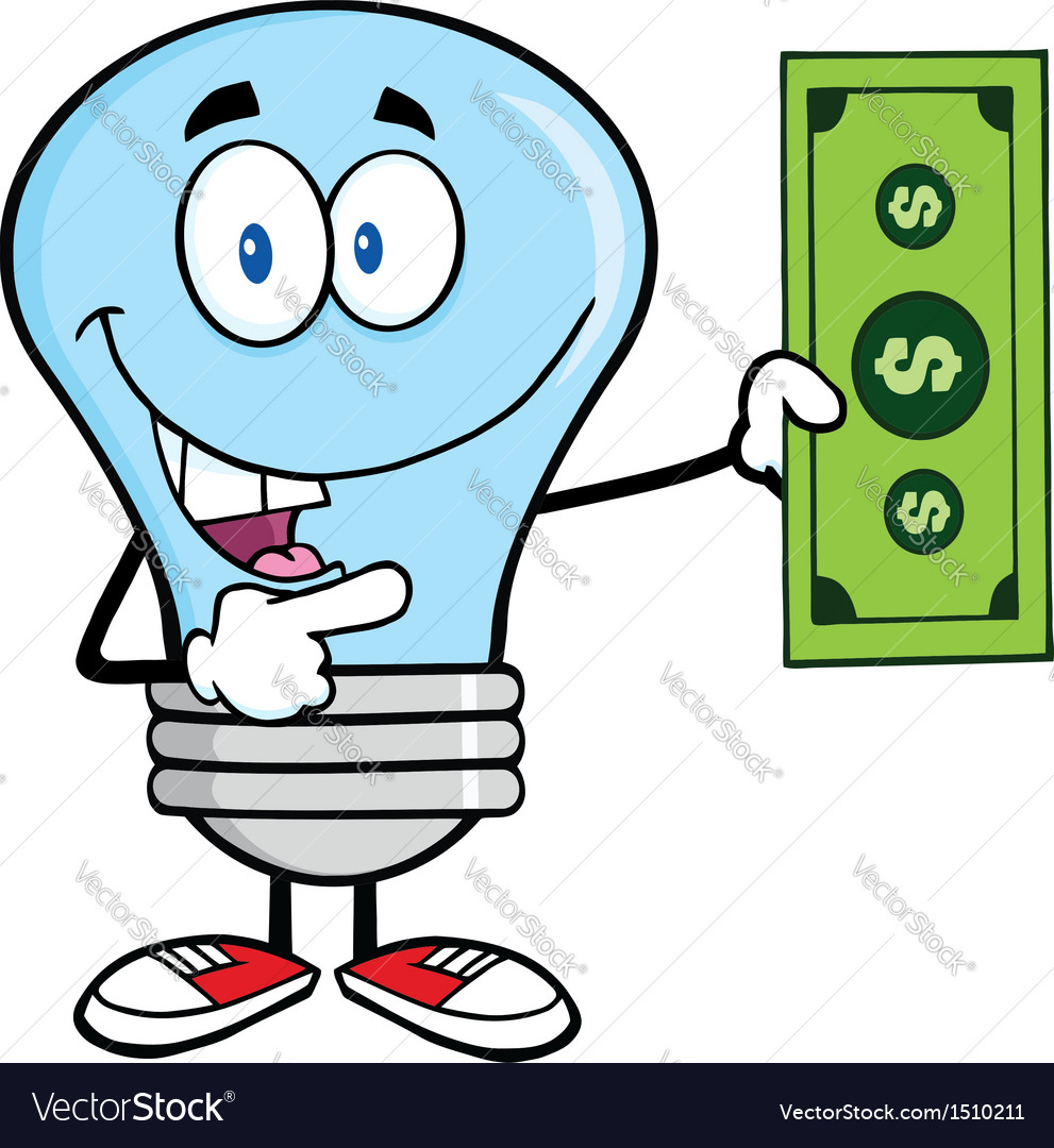 Light bulb with cash vector | Price: 1 Credit (USD $1)