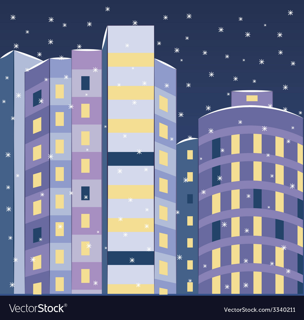 New building landscape vector | Price: 1 Credit (USD $1)