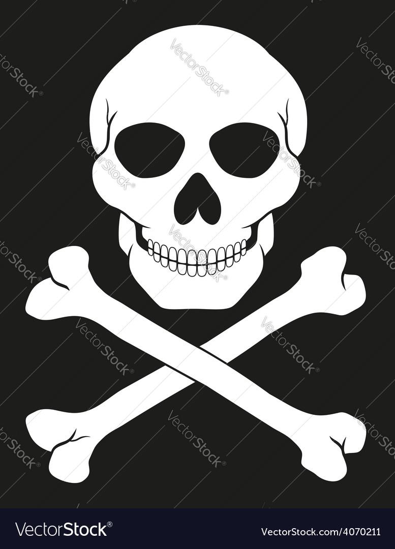 Pirate skull and crossbones 02 vector | Price: 1 Credit (USD $1)