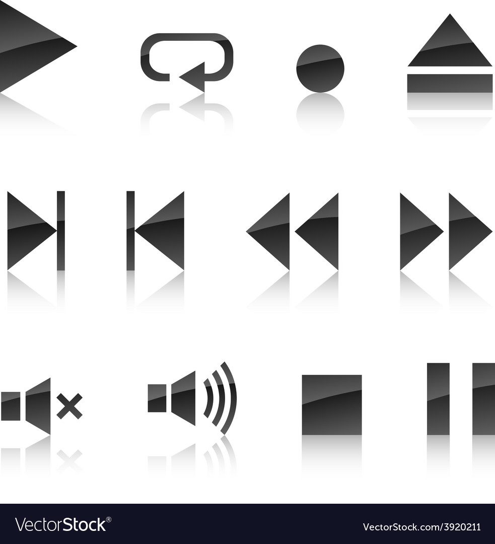 Player icon set vector | Price: 1 Credit (USD $1)