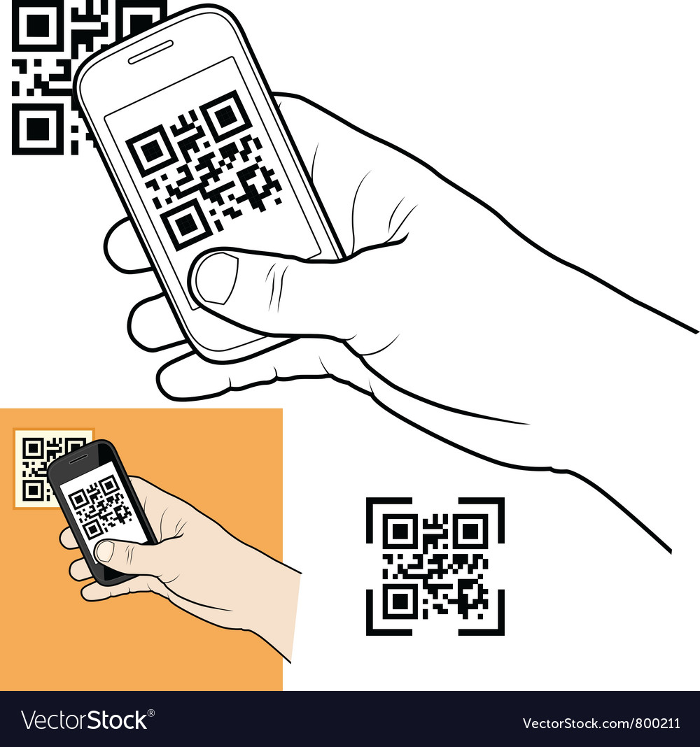 Qr code vector | Price: 1 Credit (USD $1)