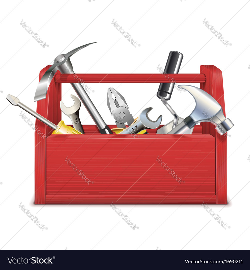 Red toolbox vector | Price: 1 Credit (USD $1)