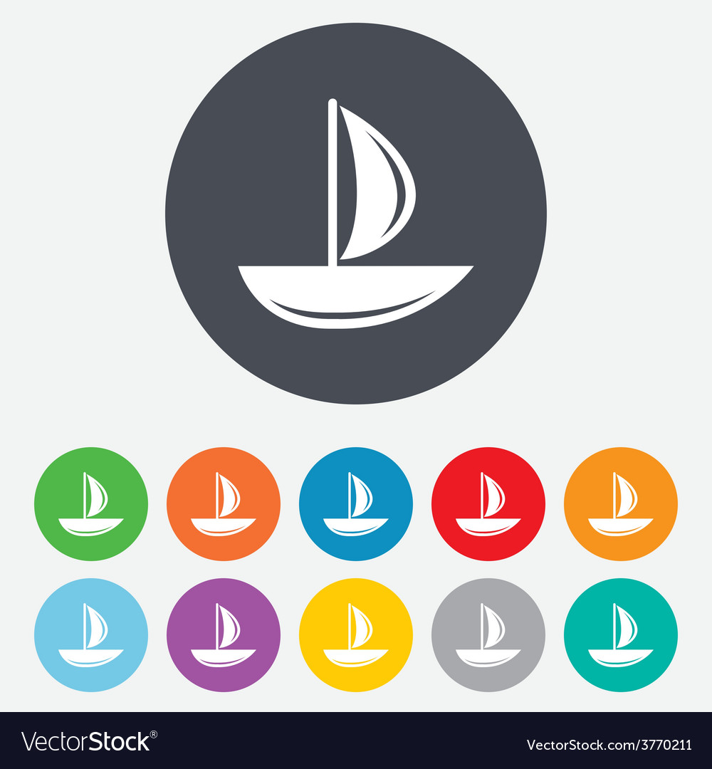 Sail boat icon ship sign vector | Price: 1 Credit (USD $1)
