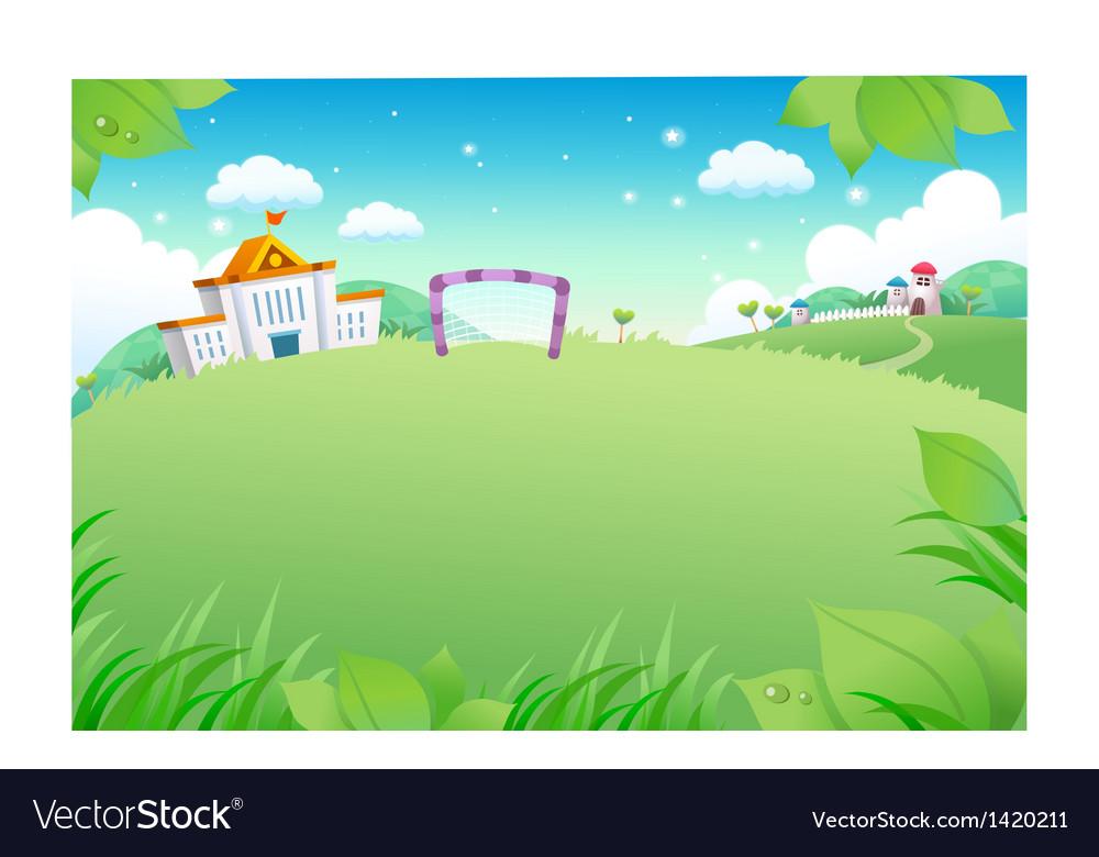 School landscape background vector   Price: 1 Credit (USD $1)