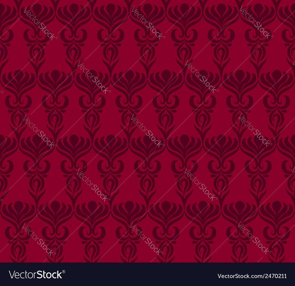 Seamless wallpaper pattern in red colors vector | Price: 1 Credit (USD $1)