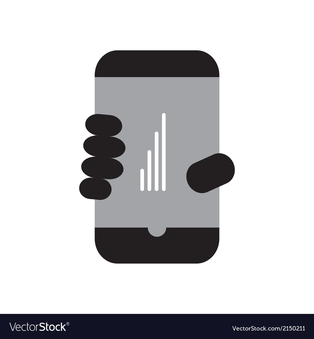 Smart phone full signal vector | Price: 1 Credit (USD $1)