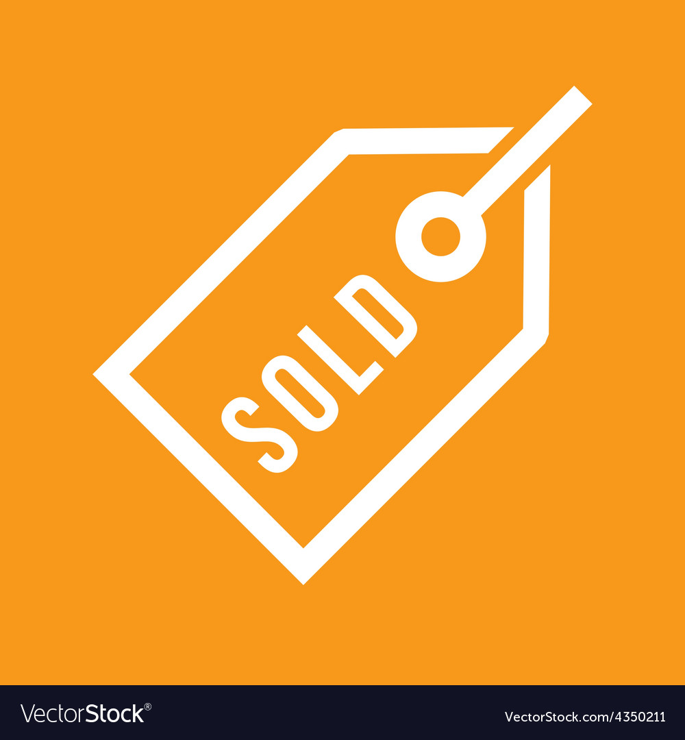 Sold tag vector | Price: 1 Credit (USD $1)