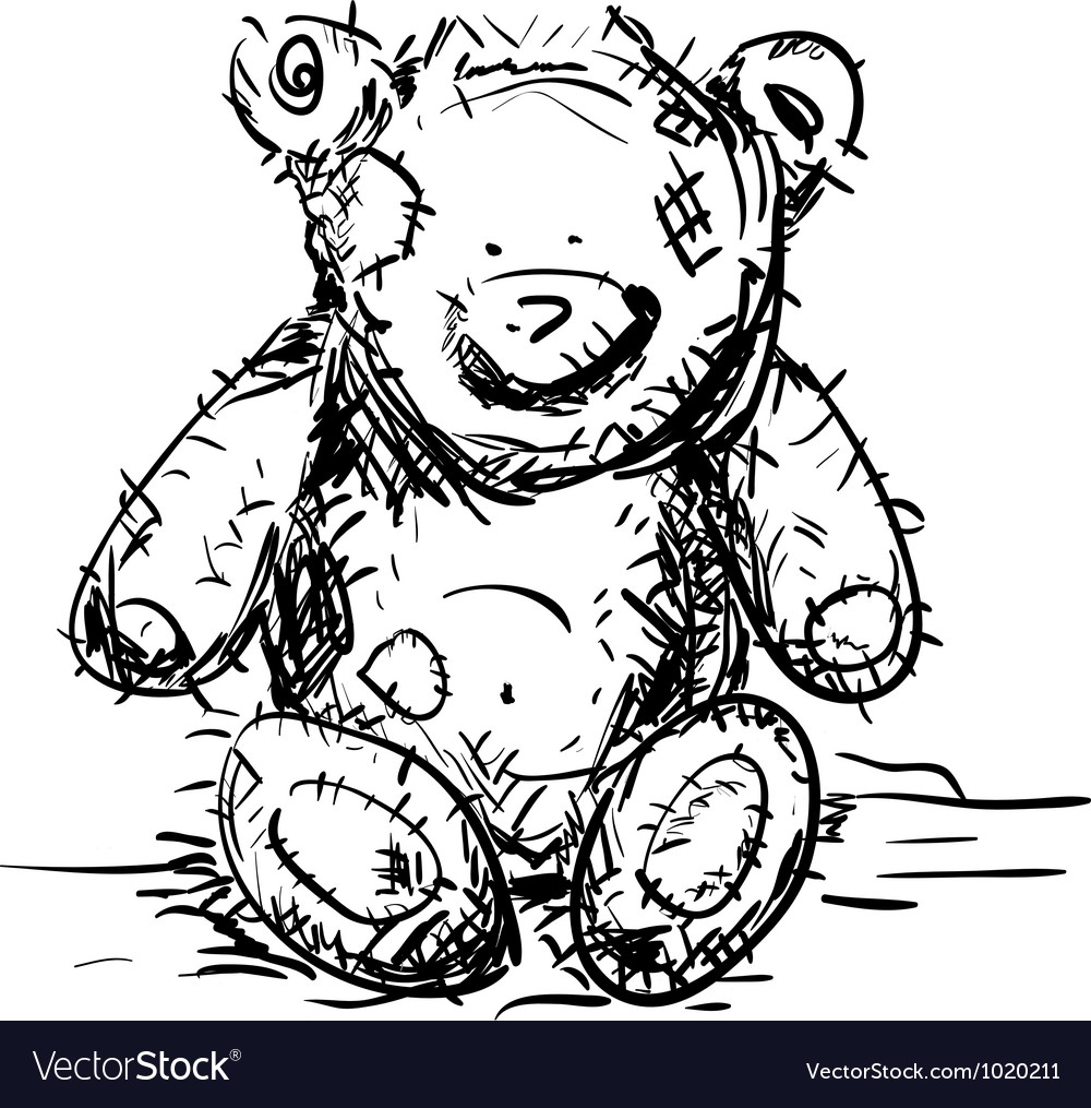 Toy teddy bear vector | Price: 1 Credit (USD $1)