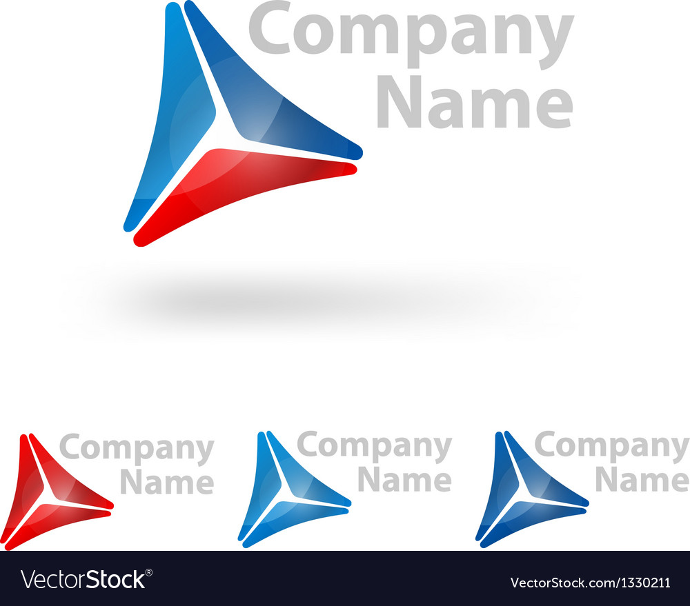 Triangle logo design vector | Price: 1 Credit (USD $1)
