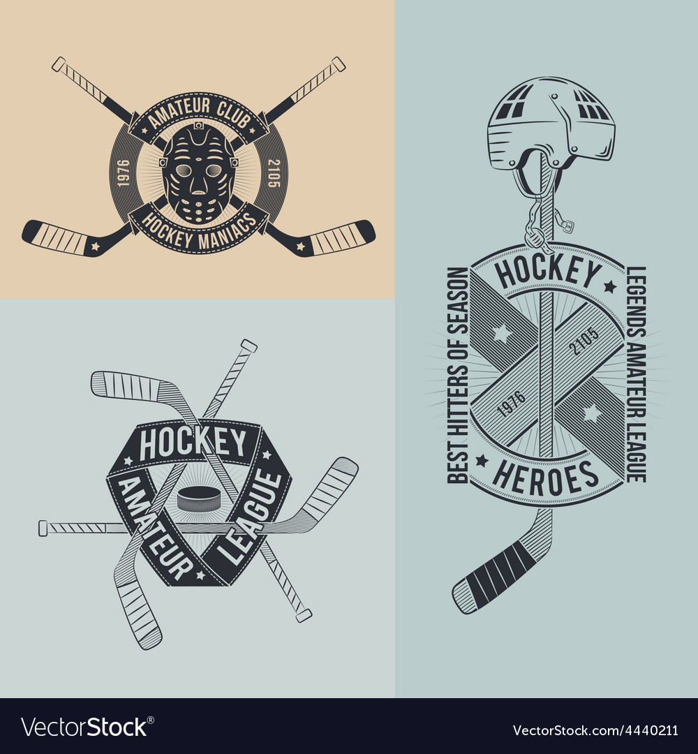 Unusual hockey logo vector | Price: 1 Credit (USD $1)