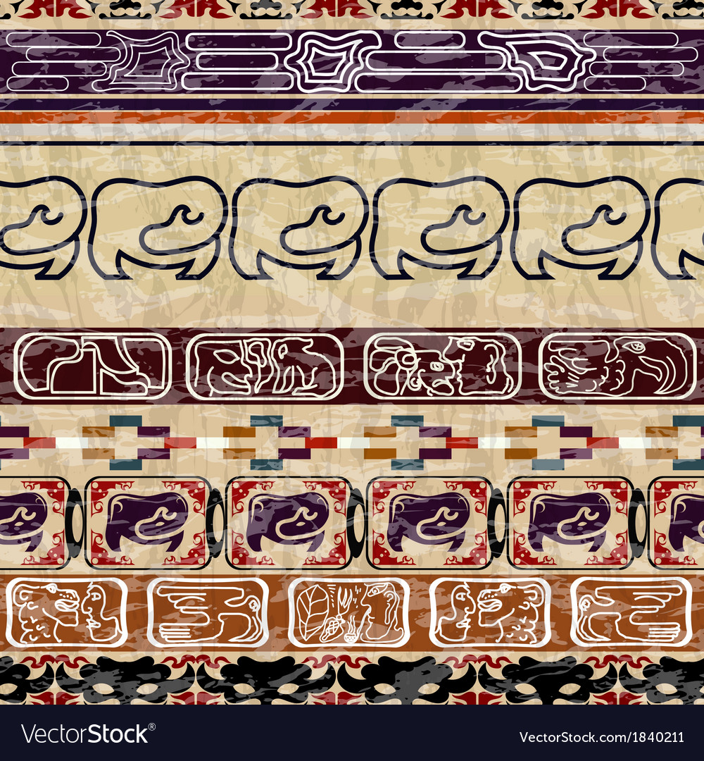 Vintage ethnic seamless texture vector | Price: 1 Credit (USD $1)