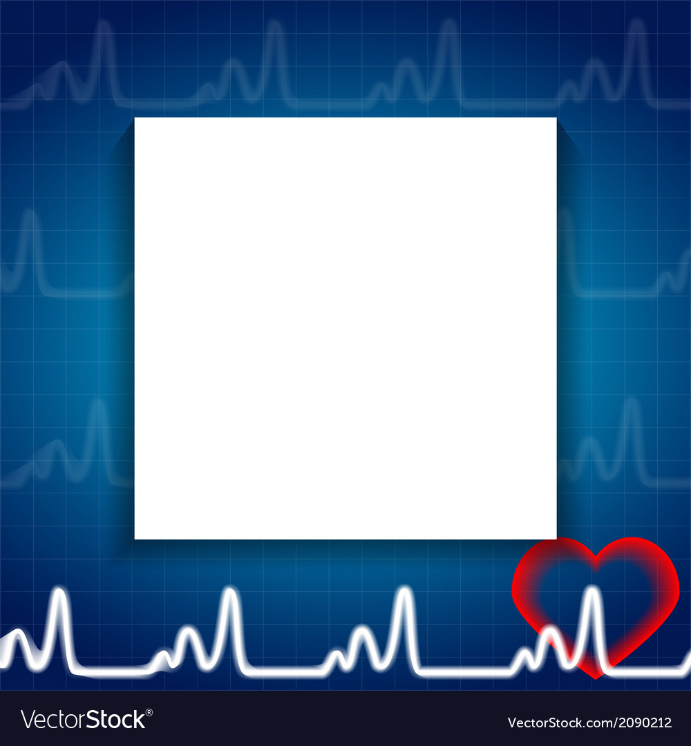 Abstract heart pulse blank paper sheet medical vector | Price: 1 Credit (USD $1)