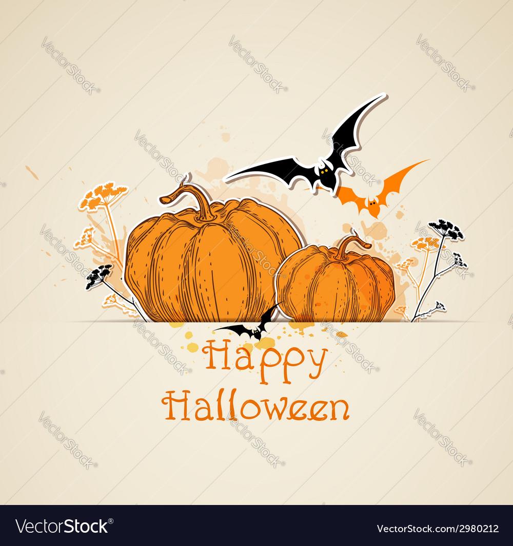 Halloween background with pumpkins vector   Price: 1 Credit (USD $1)