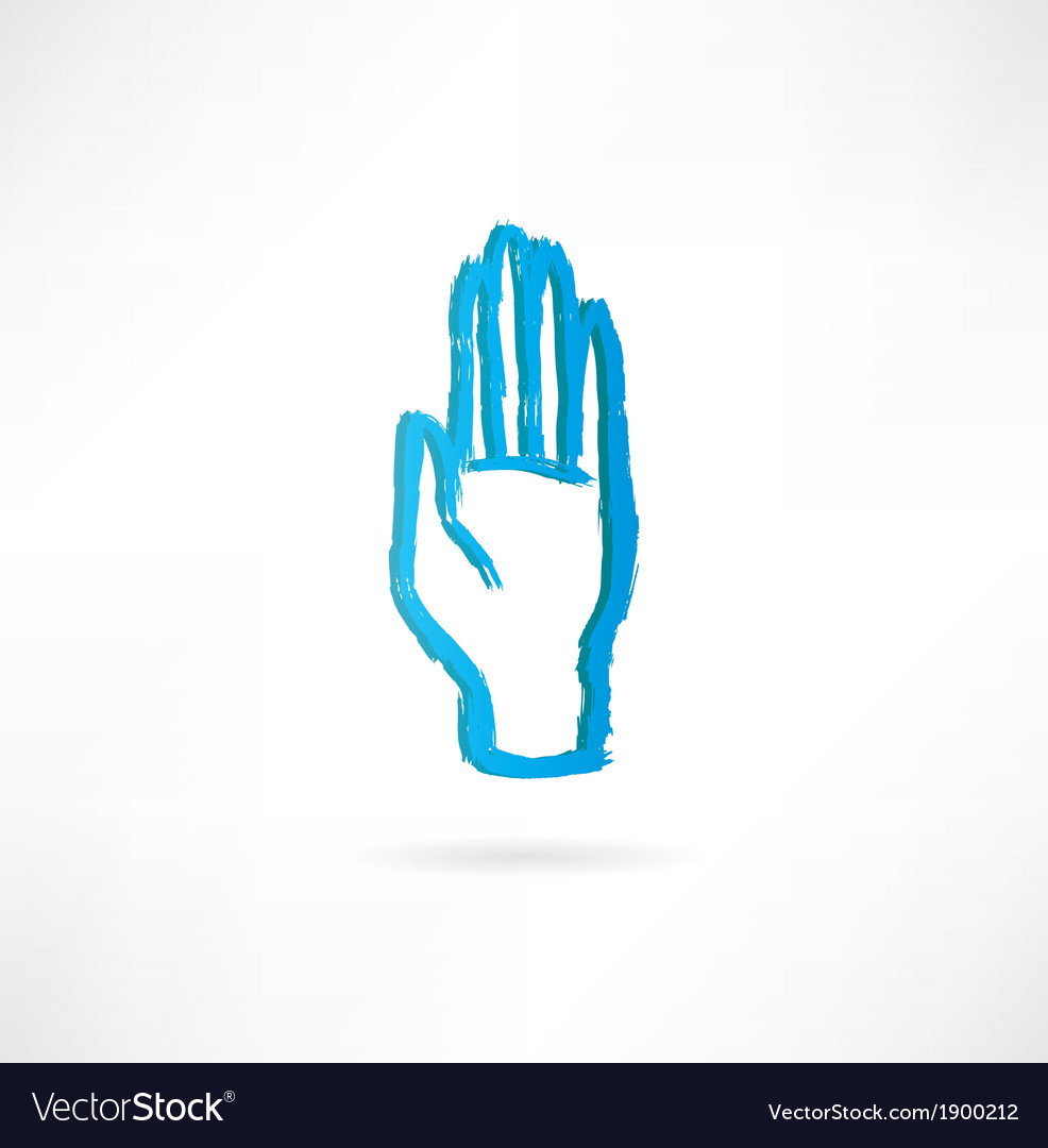 Hand with an open palm icon vector | Price: 1 Credit (USD $1)