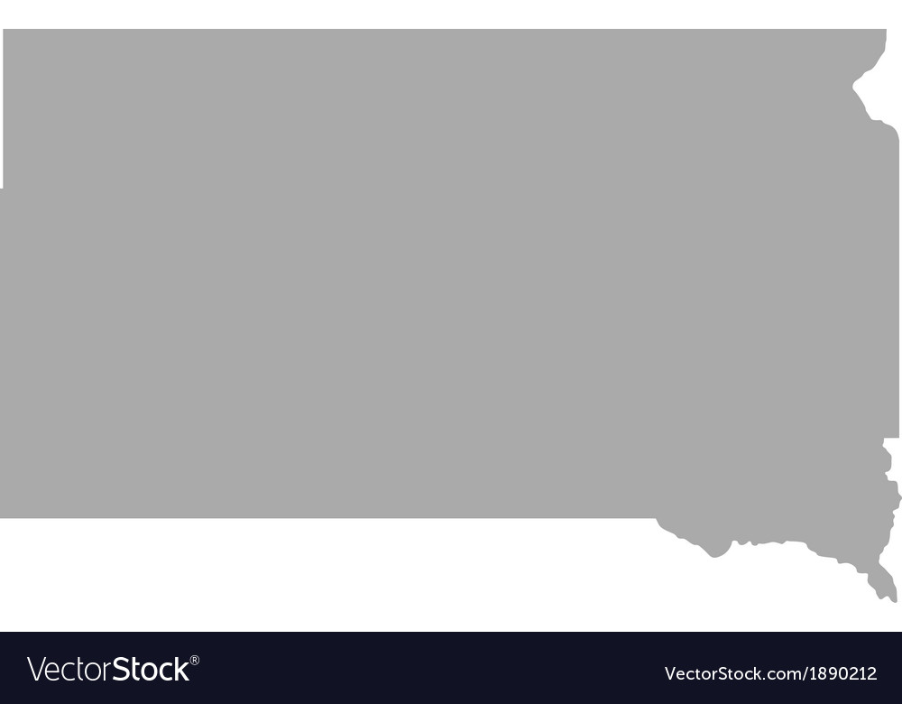 Map of south dakota vector | Price: 1 Credit (USD $1)