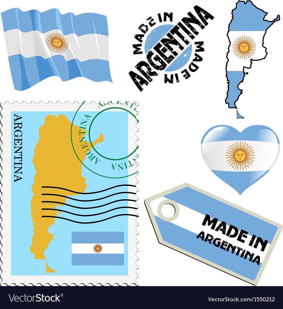 National colours of argentina vector | Price: 1 Credit (USD $1)