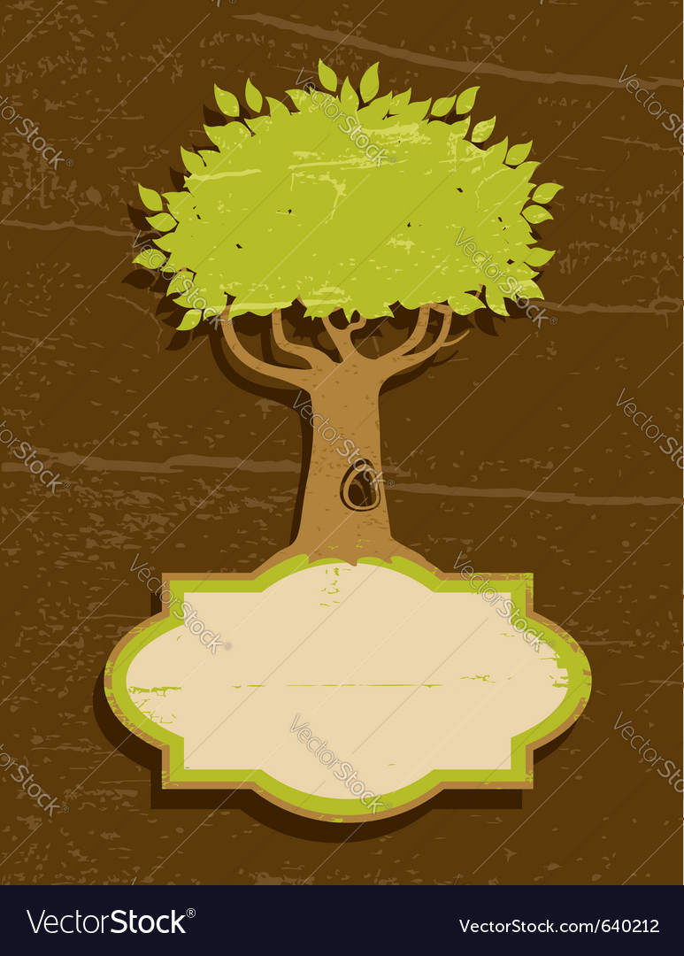 Vintage of the tree vector | Price: 1 Credit (USD $1)
