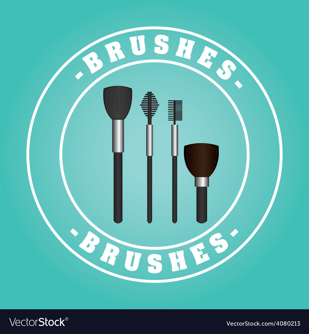 Brushes design vector | Price: 1 Credit (USD $1)