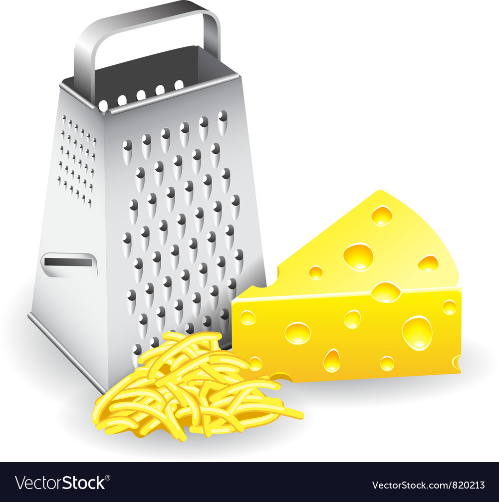 Grater and cheese vector | Price: 1 Credit (USD $1)