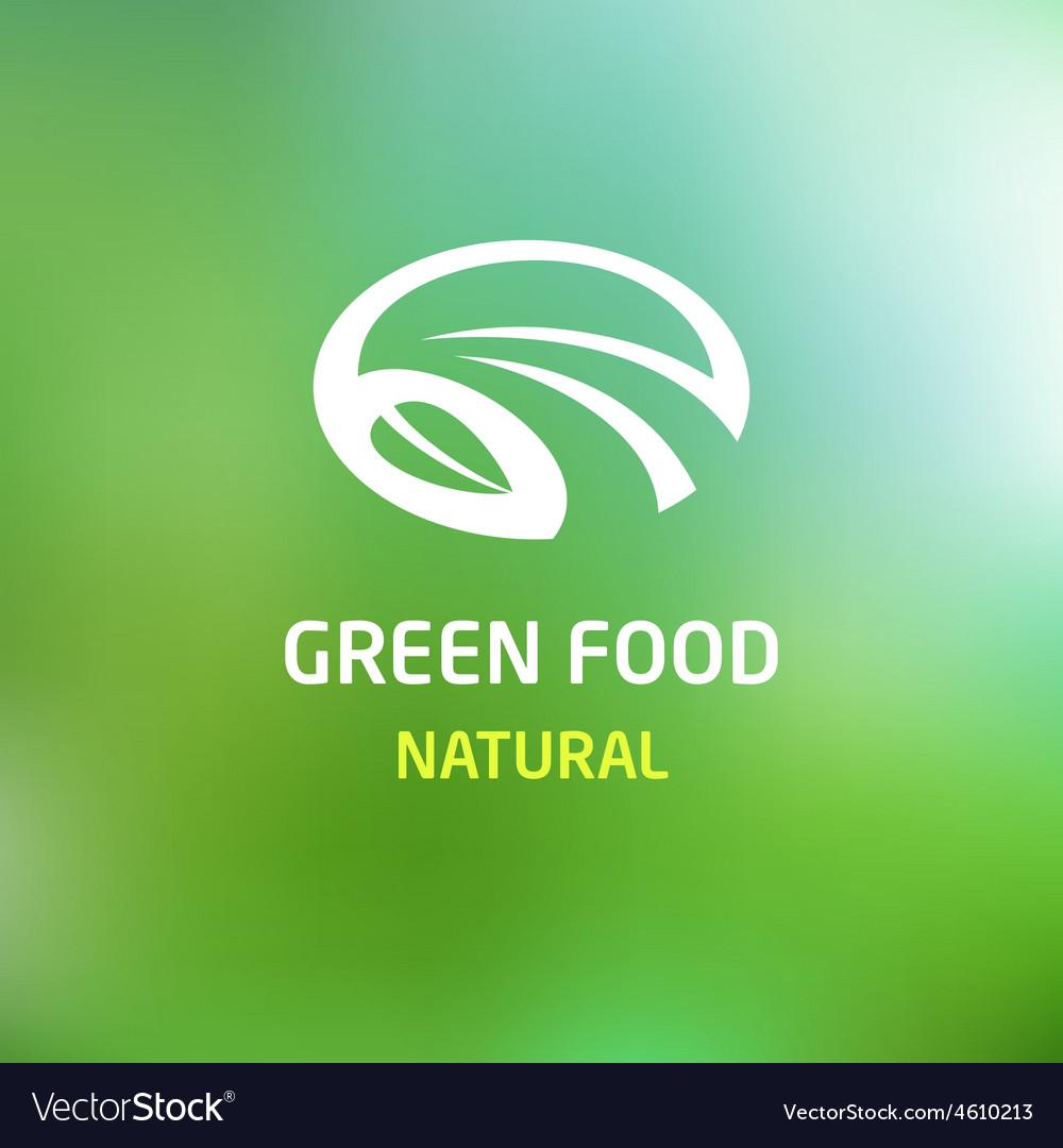 Green food logo vector | Price: 1 Credit (USD $1)