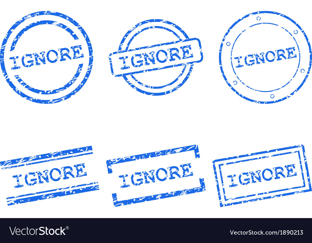 Ignore stamps vector | Price: 1 Credit (USD $1)