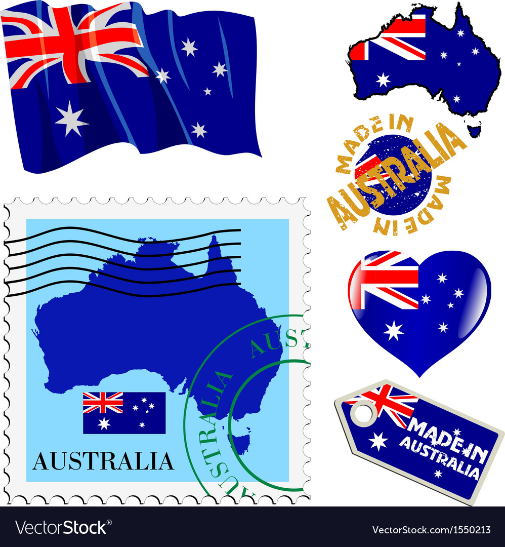 National colours of australia vector | Price: 1 Credit (USD $1)