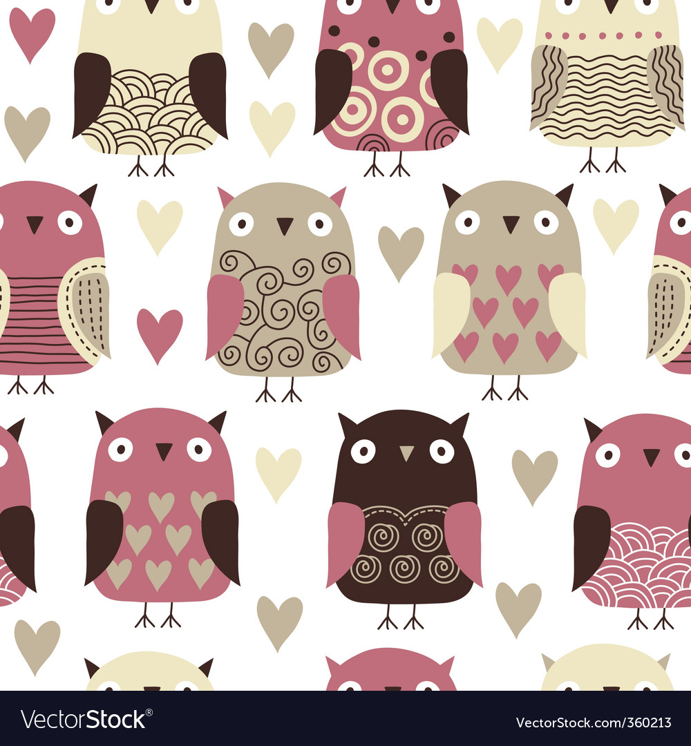 Owl pattern vector | Price: 1 Credit (USD $1)